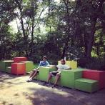Seating at Kite Hill Park