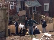 Garfield CISP building a fence