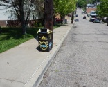 Trash can on Millvale and Dearborn